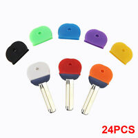 24Pcs Durable Mixed Tops Colorful Rubber Key Top Covers Tags Head Caps Markers