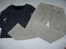 Set Womens Old Navy Jeans Size 6 Corduroy Jeweled and Small Charter Club Top
