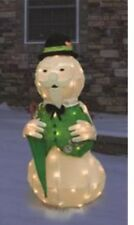 Outdoor Lighted Rudolph The red nosed Reindeer's narrator Sam Snowman Christmas