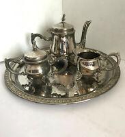 MINIATURE Tea Coffee Set Silver plate Art Godinger Ltd Silver Plated 4 Piece