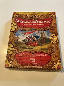 ADVANCED DUNGEONS & DRAGONS WORLD OF GREYHAWK GAME SETTING - VG