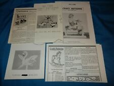 Lot of 5 Woodworking Craft Patterns Rocking & Spring Horse Flamingo Whirligigs