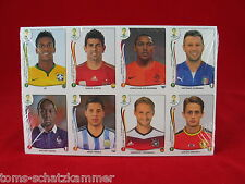 Panini WM 2014 alle 72 Update Extra Sticker OVP Sondersticker WC 14 71