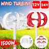 1500W 12V/24V Lantern Wind Turbine Generator Vertical Axis 5 Blades w/Controller