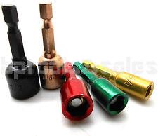 "5pc Magnetic Nut Bit Driver Set Color Drill Setter 1/4"" 5/16"" 3/8"" 7/16"" 1/2"""