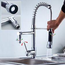 Tap Kitchen Sink Bath Shower Spout Swivel Industrial Spiral 2 in 1
