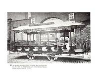 Brookyln St Cleveland Woburn Winchester Trolley Railroad Book plate print
