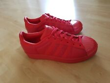 adidas Superstar Sneaker- Turn- Sport- Freizeit Schuhe - Rot UK 5,5 / EU 38 2/3