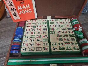 Vintage Mah Jong Game Set in Case Mahjong