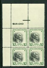 USA 1938 🔥 Prexie Harding $2.OO Top Margin Block Scott 833 MNH 🔥 L431