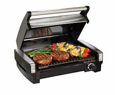 Hamilton Beach Electric Stainless Steel Grill BBQ Indoor Nonstick Portable