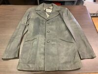 Vintage Berman's Men's Gray Leather Jacket - Size 40
