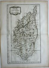 Island of Corsica Mediterranean Islands France 1760 Bellin map