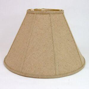 Tan Linen Empire Shade, Softback, 7.5x17x11.5, Washer Fiitter