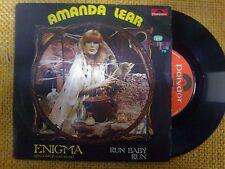 DISCO 45 GIRI AMANDA LEAR - ENIGMA/RUN BABY RUN - POLYDOR 1978 VG-/VG-