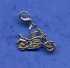 """Gran """"moto"""" clip en encanto colgante, plata tibetana clip en encanto Bici del motor"""