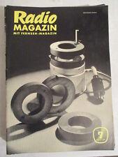 Radio Magazin mit Fernsehen Rundfunktechnik  Ausgabe Juli 1954
