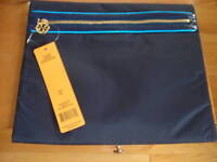 13a7a111d8 TORY BURCH KAITLYN WOMEN'S LARGE COSMETIC MAKE UP CASE CLUTCH NAVY LOGO NWT
