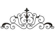 grand fronton applique decoration tete de lit murale plaque grille en fer 102cm