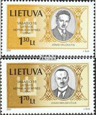 Lithuania 722-723 (complete issue) unmounted mint / never hinged 2000 Independen