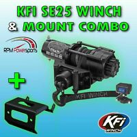 2500 lb KFI Stealth Winch Combo Synthetic Rope Can-Am 2013-2016 Maverick 1000 R