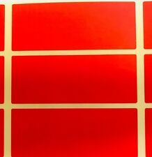 Large Red 30 x 78mm Colour Code Rectangles - File / Box Stickers Sticky Labels