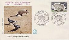 FRANCE FDC - 904 1819 3 TATOU GEANT DE GUYANNE 19 10 1974 - LUXE