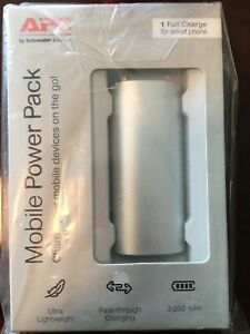 APC M3SR APC Mobile Power Pack, 3000mAh Li-ion Cylinder, Silver - For Mobile Dev