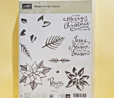 Stampin Up Reason for the Season Set Poinsettia Merry Christmas Branches Jesus