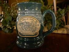 Renaissance Festival Mug Beer Coffee Cup Minnesota Pottery 1997 Ship of Fools