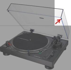 Lid bump stops for Numark Pro TT-1 TT1 Turntable dust cover black rubber Newmark