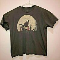 Kraken Snackin Threadless Men's XX-Large Black T Shirt Pirate Ship Moon Tee XXL