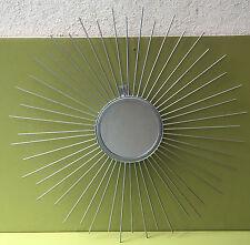 MIROIR SOLEIL en ACIER 13,5 CM DE DIAMETRE, ENVERGURE TOTALE 55 CM
