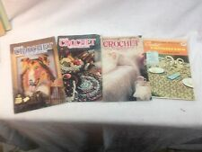 Vintage Lot Crochet Home   Knitting Sewing  Crochet Country Craft Needlepoint