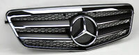 Chrome Black Gloss Sports grill Mercedes E class W212 2009-2013 AMG STYLE LOOK