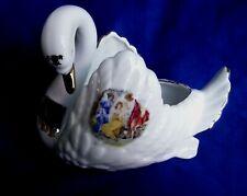 Swan Bowl Vase, Three Graces , Leander porcelain, Bone China Porcelain