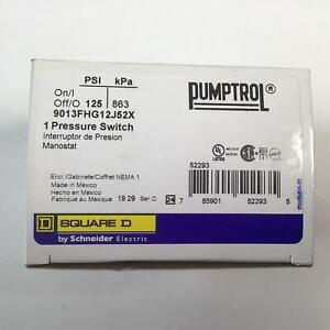 SCHNEIDER ELECTRIC 9013FHG12J52X Pressure Switch Plus Options Electrical Box