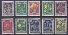 1948 Heimische Blumen - Tuberkulosebekämpfung Postfrisch ** 877 - 886
