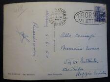ANNULLO MECCANICO TL - TAORMINA VI ATTENDE - 1950