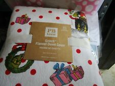 Pottery Barn Teen Grinch flannel Christmas Twin duvet Christmas New