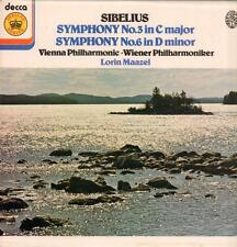 Sibelius(Vinyl LP)Symphony No.3-Decca-JB 44-UK-1978-Ex/NM