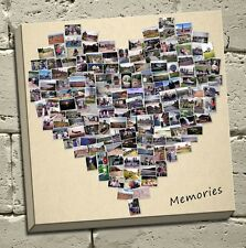 canvas print bespoke picture collage frame gift heart shape 20x20 inch (50cm)