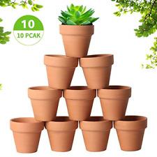 Tcamp 10 Pcs Terracotta Pot Clay Pots Clay Ceramic Pottery Planter Cactus Flower