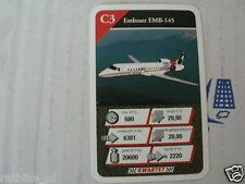 21 AIRPLANES C3 EMBRAER EMB-145 KWARTET KAART, QUARTETT CARD