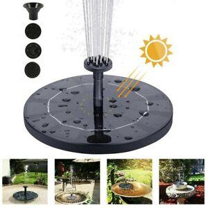Solar Pumpe Teichpumpe Springbrunnen Brunnen Fontäne Garten Teich Wasserspiel DE