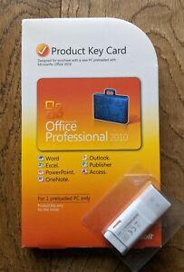 Microsoft Office 2010 Professional, Full UK Retail box, Product Key Card, USB