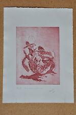 Radierung Originaldruck Kaktus Kind Feigenkaktus handsigniert Roland Spohn