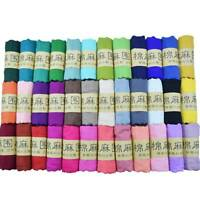 Women's Long Scarves Stole Wrap Shawl Soft Cotton Linen Yarn Scarves Scarf New U
