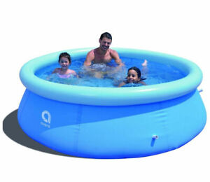8ft Paddling Pool Large Family Swimming Fast Set Inflatable Round Kids UK