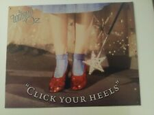 """Wizard Of Oz METAL TIN SIGN POSTER """"Click Your Heels"""" WALL PLAQUE"""